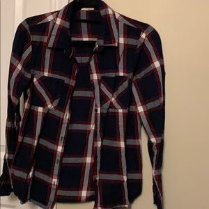 Cute navy blue and red flannel
